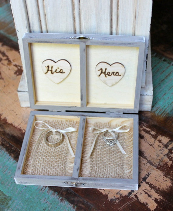 Rustic Wedding Ring Bearer Box Personalized By
