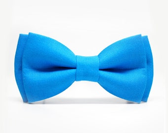 Blue Bow Tie for Boys, Toddlers, Baby - pre tied bowtie, wedding, photo prop