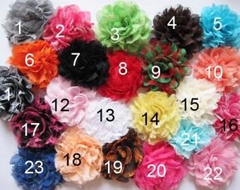 """5 Large 4.5"""" Mesh Lace 4D Flower-U Pick D007"""