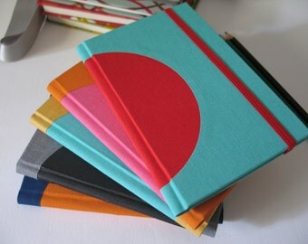 Custom Color Small Ruled Notebook -  Inner Circle - A6 / small size