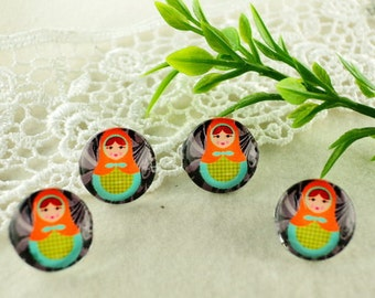 10pcs (12mm ) Handmade Photo Glass  Cabochons (CHG1301)