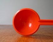 Vintage Mod Orange Plastic Serving Spoon