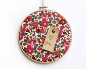Memo Board/Cork Board /Pink Orchid Floral Liberty of London Cork Board with Pins/ Organization/Wall Decor/Home/Home Office