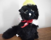 Vintage black cat Tidy Cat promo advertising stuffed animal