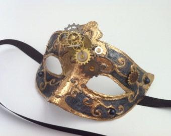 Pharaohs Time - Steampunk Venetian Mask OOAK
