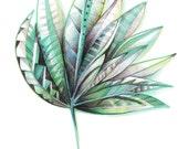 Palm Leaf, A4