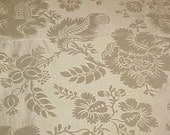 Vintage Gold Upholstery Fabric Drapes Curtains  2 Yd x 52 In Wide