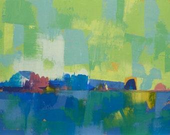"""Epiphany 10"""" Original oil landscape on canvas 16"""" x 12"""" x 1""""(40.6cm x 30.5cm x 2.54cm)"""