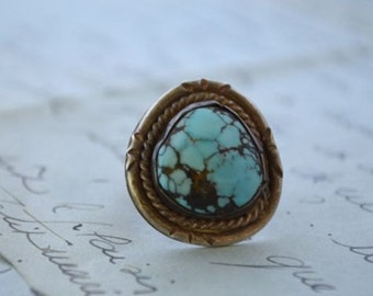 1950s Navajo Turquoise Ring - Size 6 3/4
