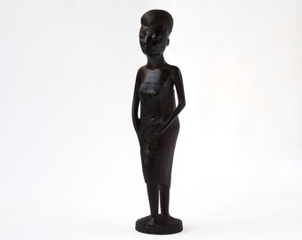 African figurine, African carving, of woman, tribal art