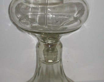 Vintage Glass Hurricane Lamp