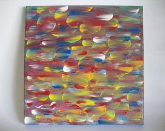Abstract Canvas,Abstract Canvas Art, 12x12 Acrylic Abstract, Colorful AbstractCanvas Abstract, Canvas Abstract Art