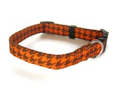 Autumn Houndstooth Dog Collar size Small