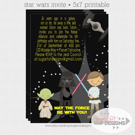 May The Fourth Be With You Wedding Favors: Items Similar To Star Wars Invitation, Star Wars Party