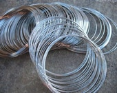 2.75 Ounces Steel Bracelet Memory Wire  65mm 22Gauge approx 200 loops