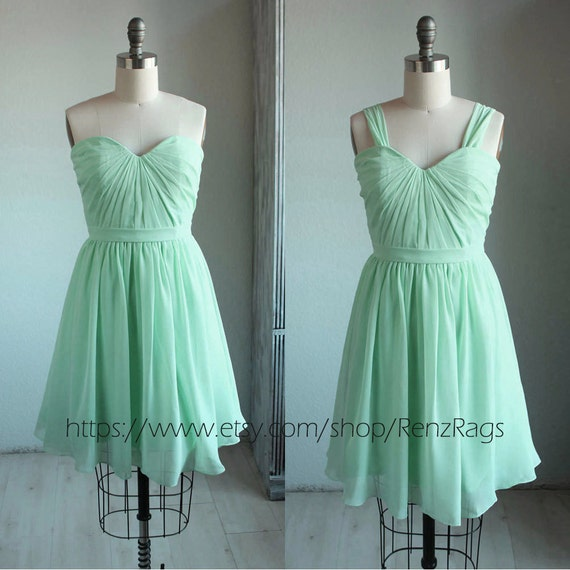 2017 Mint Bridesmaid Dress Pleated Graduation Dress Short