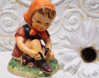 Eric Staffer Shoe Lace Girl Figurine