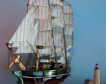"Famous CUTTY SARK 12"" Long Wooden Ship Model-  Assembled and ready to Ship"