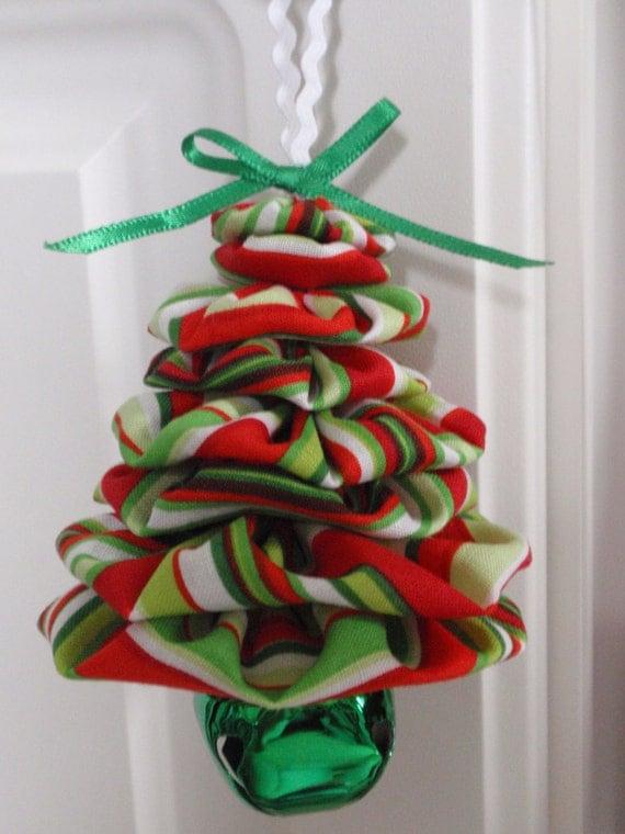 Green Redwhite Stripe Christmas Print Yo Yo Jingle Bell