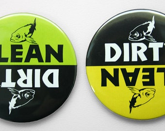 Dishwasher Magnet - Dirty or Clean - Fish 2