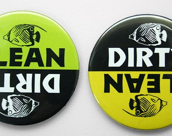 Dishwasher Magnet - Dirty or Clean - Fish 3