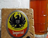 RESERVED: Handmade Brew Stone Coaster - Imperial