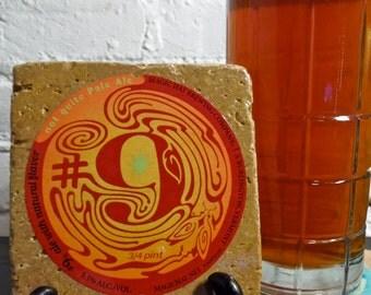 Handmade Brew Stone Coaster - Magic Hat #9