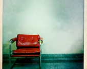 Red chair print, square print, 4x4, 8x8, retro photo, Instagram photo