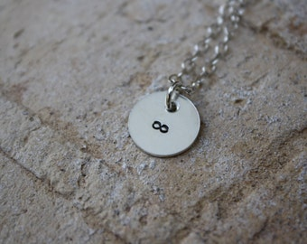 Silver Infinity Necklace, Stamped Metal Jewelry