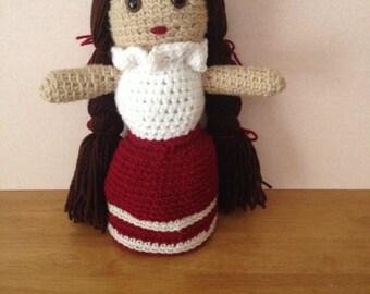 Crochet Little Mexican Girl Doll