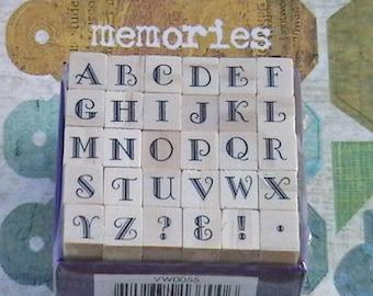 Alphabet Rubber Stamp Set  Uppercase Studio G  Set 12