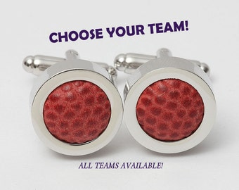 Game Used Football Cufflinks CHOOSE YOUR TEAM