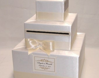 Elegant Custom Made Wedding Card Box- any colors