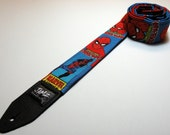 Comic book super hero guitar strap with double padding - This is NOT a licensed product
