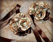 Vintage music paper flowers, customized corsage