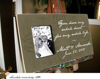 Unusual Wedding Gifts For Parents : Unique Wedding Gift, Personalized P icture Frame, Gifts for the Bride ...