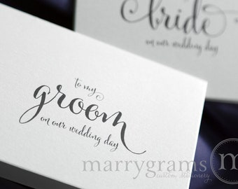Wedding Card to Your Groom on Your (Our) Wedding Day- Groom Gift for Wedding Day - To My Groom Note Card for New Husband - CS07