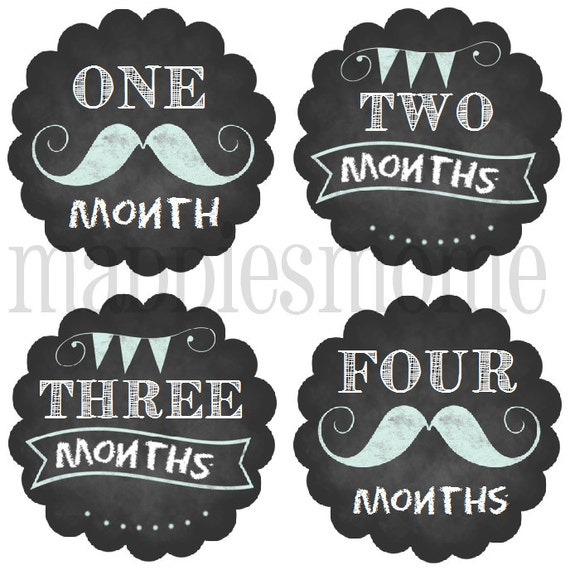 Monthly Baby Stickers Baby Boy Month Stickers Milestone