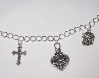 Day of the Dead Charm Bracelet 8""