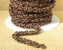 Byzantine Chain - Antique Copper - Choose Your Length