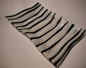White and Black Glass Wave Platter