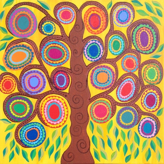 Abstract art tree of life