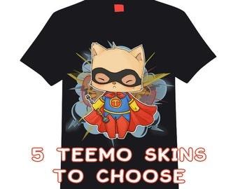 Custom t-shirt - League of Legends [[ 5 TEEMO SKINS ]]