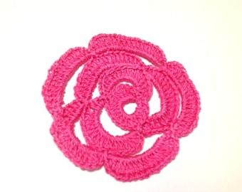 Hand Crocheted Rose Tutorial, Decorative Flower Doily Pattern, PDF Patterns