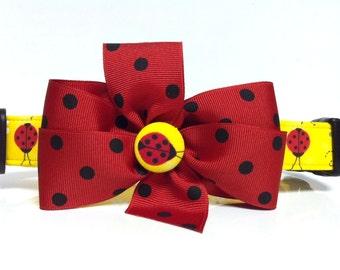 Dog Collar- The Yellow Ladybug