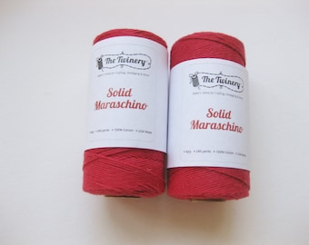 100 Yards of SOLID MARASCHINO - Red Bakers Twine