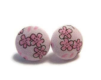 Pink Blossom Studs