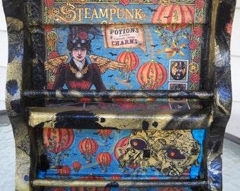 Steampunk Debutante Spells Two Tier Collage Wall Shelf