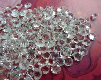 100 rhinestones, Ø5mm, crystal, vintage