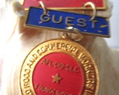 Interesting UFCA Guest Founding Convention 1979 Medal/ Badge.